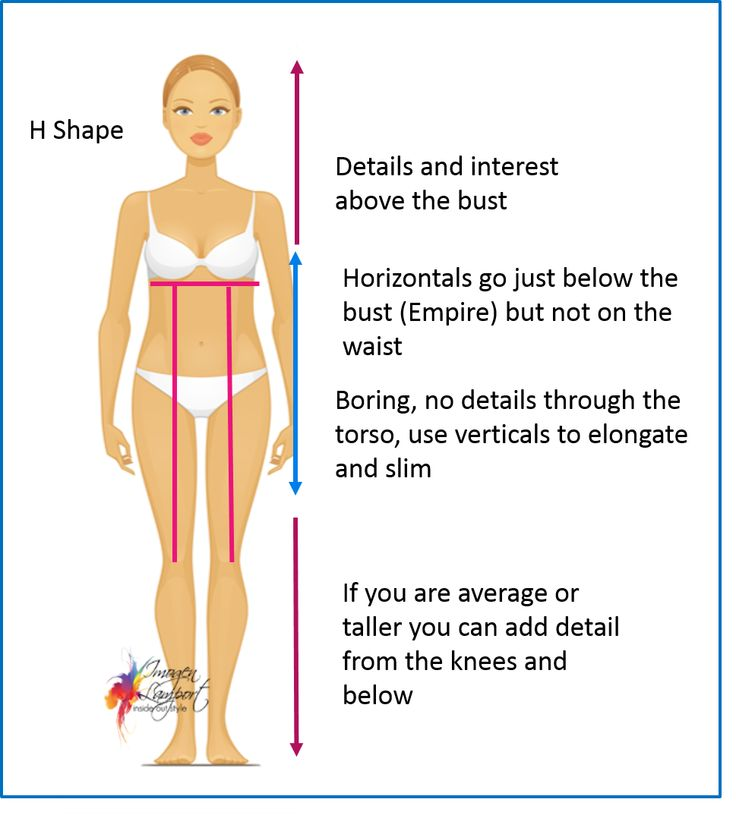 Body Shape Bible: Understanding How to Dress H Shape Bodies