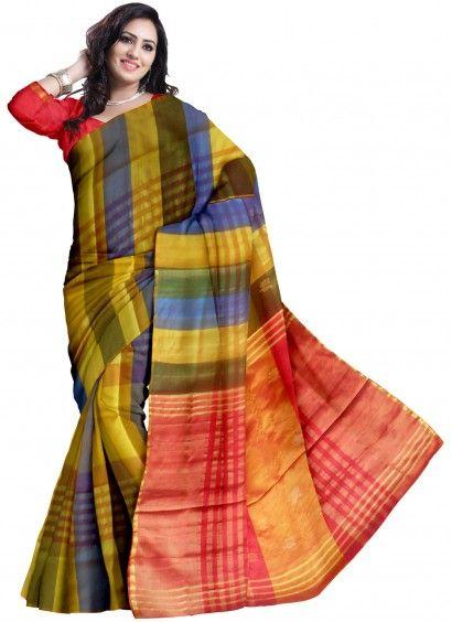 Multicolor Pure Uppada Handloom Silk Saree & Blouse Product code: UHSUP7S003 Retail price: 4,528/- Sale price : 4,312/-