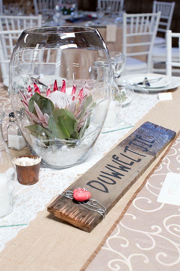 protea flower centerpieces