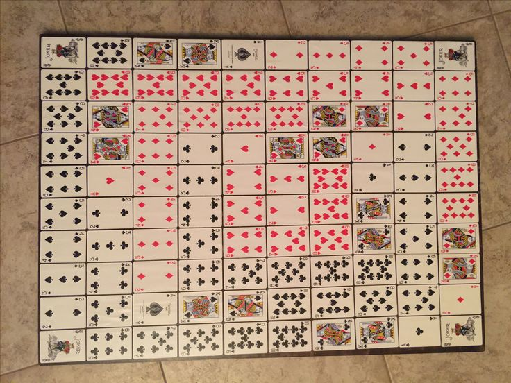 Sequence Game Board Diy Sequence Game Diy Games Minute To Win It Games