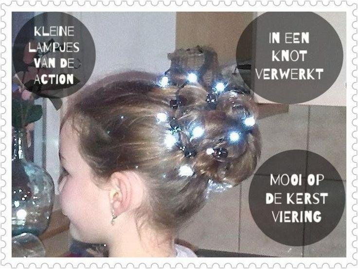 kerstlampjes van de action met batterijen...