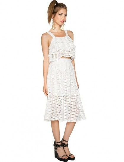 On Our Radar: Matching Separates - Pixie Market Little Dreams White Lace Matching Separates