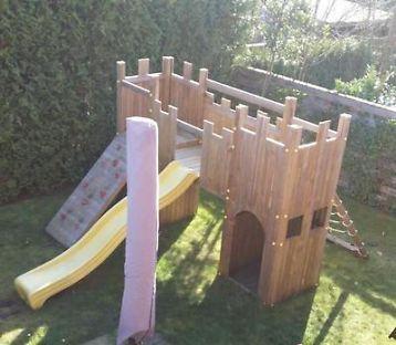 ≥ Houten Speeltoestel Kasteel Ridderburcht Glijbaan Klimwand - Speelgoed | Buiten | Speeltoestellen en Speelhuisjes - Marktplaats.nl