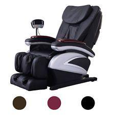 Electric Full Body Massage Chair Recliner Heat Foot Rest FREE SHIPPING   full body shiatsu massage chair recliner