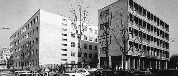 La sede dell'Università Bocconi di Giuseppe Pagano