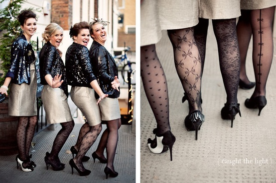 We've got legs (and how to dress them up right)! Tights and socks for your wedding style | Offbeat Bride