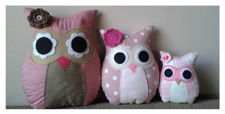 Handmade Owl soft toys. Visit www.theprettycollection.co.za for more information or email info@theprettycollection.co.za #owls #baby #babyroom #toys #handmade #babyshower #pink