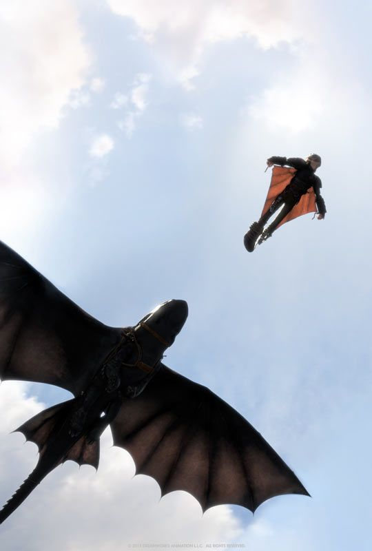 How To Train Your Dragon was great. This looks perfectly beautiful. a pic rom the trailer of second movie