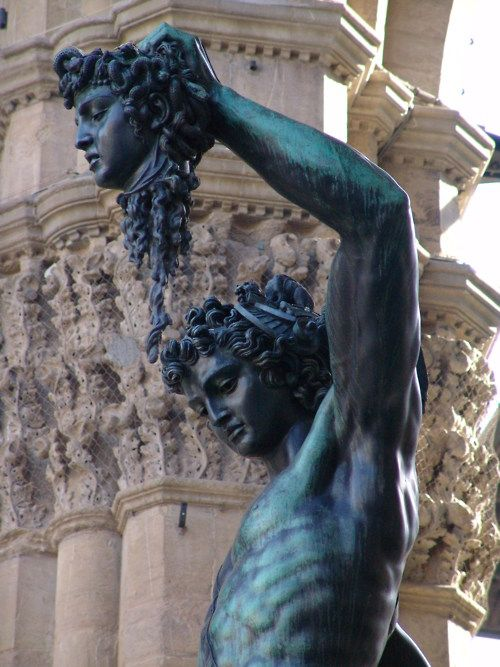 Perseus with the Head of Medusa, Benvenuto Cellini, Florence, Italy