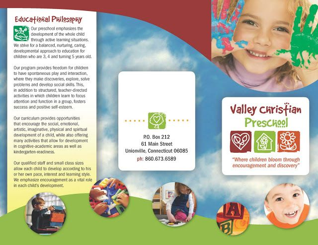 preschool brochure samples Best And Professional Templates