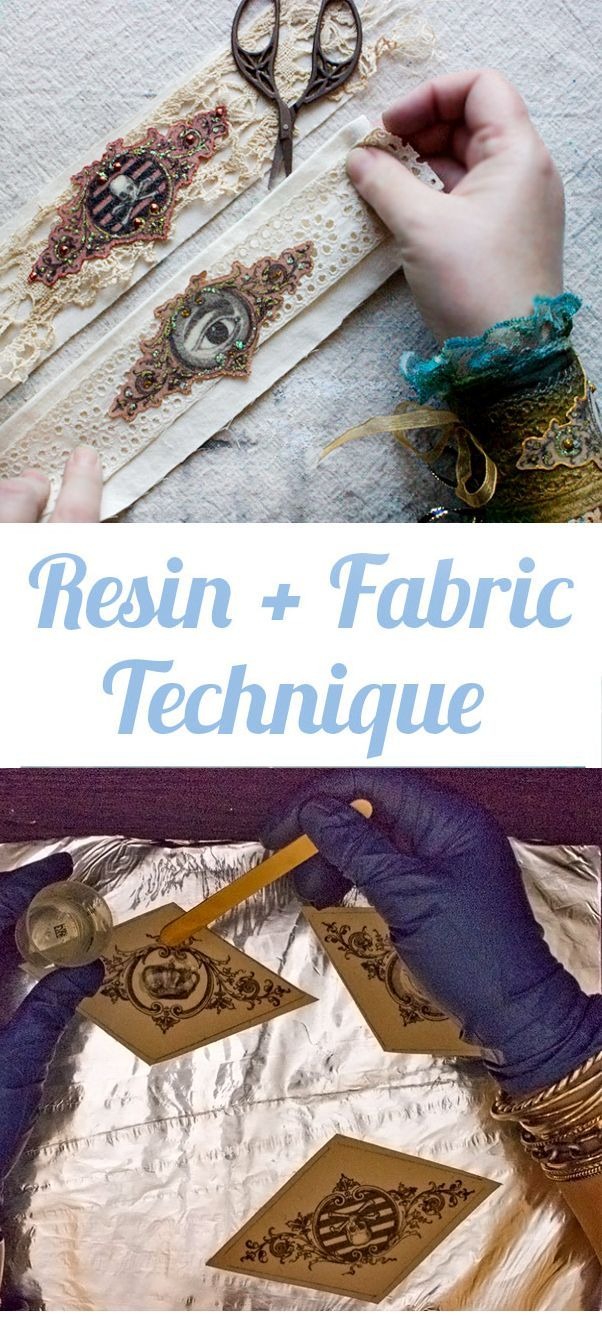 Resin plus Fabric Technique - Simple! - The Graphics Fairy
