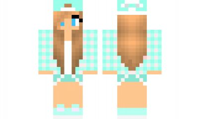 minecraft skin Blue-Tomboy Find it with our new Android Minecraft Skins App: https://play.google.com/store/apps/details?id=the.gecko.girlskins