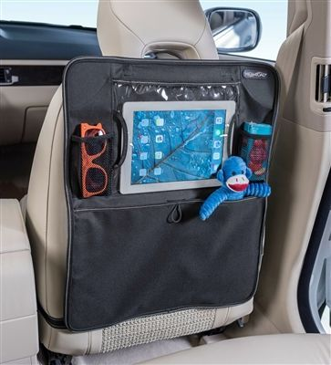 SEAT BACK? Covered. ENTERTAINING KIDS IN THE CAR? Covered.  The TabletPockets by High Road. www.highroadorganizers.com #pocketprotectorideas