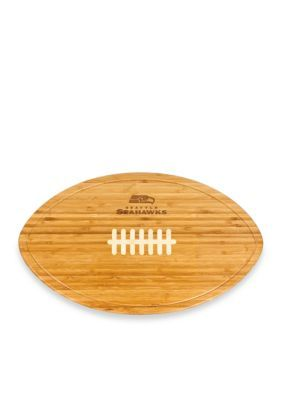 Picnic Time  Seattle Seahawks Kickoff Bamboo Serving Tray - Brown - One Size