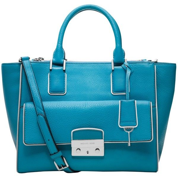 MICHAEL Michael Kors Audrey Leather Large Satchel Handbag ...