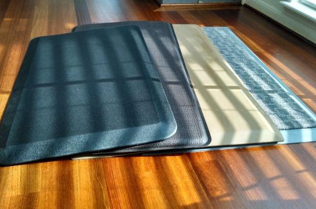 (L-R: NewLife EcoPro, GelPro, SmartCells Original, carpet-top SmartCells)