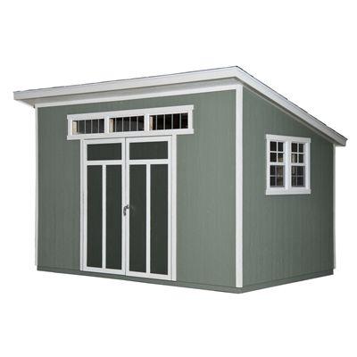 Heartland Metropolitan 8-ft x 12-ft Lean-To Engineered Wood Storage Shed