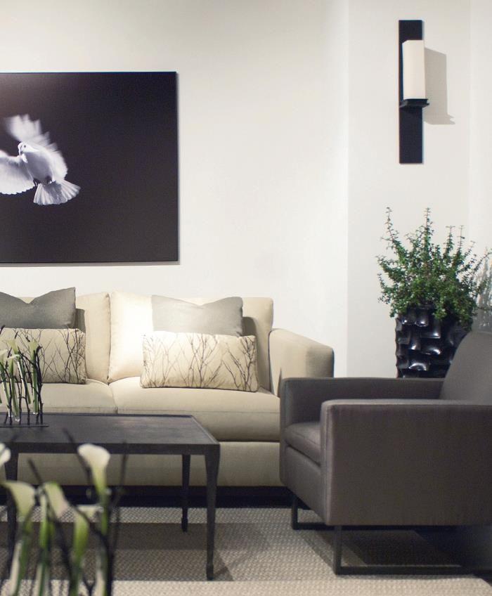 Lanai Sofa | Jaxon Chair | Halden Cocktail Table #design #GlenandJamie #furniture