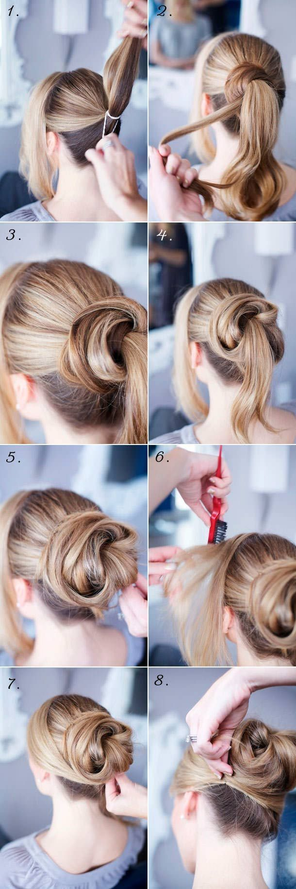 Cute updo tutorial. Perfect day to night hair. #updo #hair #hairtutorial