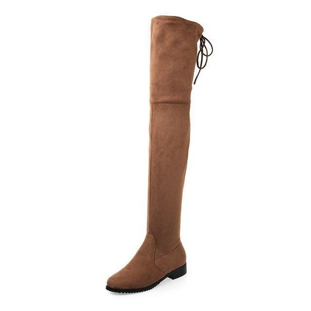 Delgados Botas Sexy botas sobre la rodilla del Ante de las mujeres botas de nieve de las mujeres de moda de invierno de alta del muslo botas zapatos de mujer # Y1163863F en Botas por encima la rodilla de Zapatos en AliExpress.com | Alibaba Group