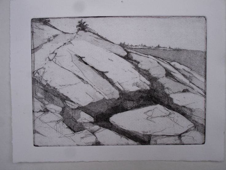 Original Fine Art Etching, Mariginal Way Path by papermaker on Etsy