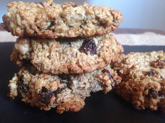 Rachelle et Coco | Biscuits avoine et raisins sans farine
