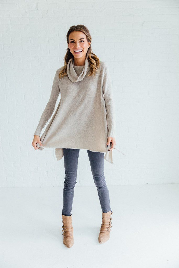 DETAILS: Long sleeve a line cowl neck Extremely soft Polyester Spandex Runs true to size Model is wearing a small...