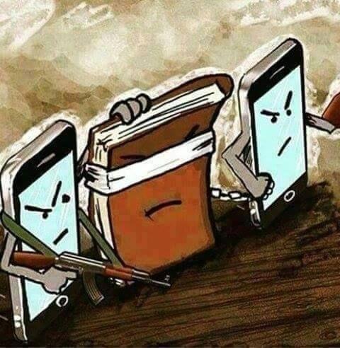 Telefonların kitapları esir alması
