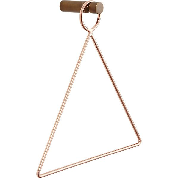 copper accessory-towel holder    CB2 Love this! Can't decide if I need it now or just want it for the future haha