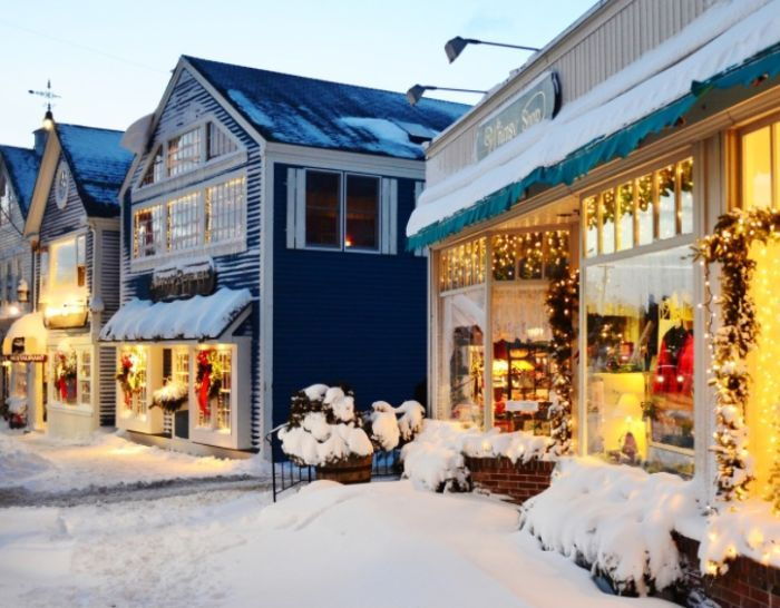At Christmastime, this little town becomes a real winter wonderland.