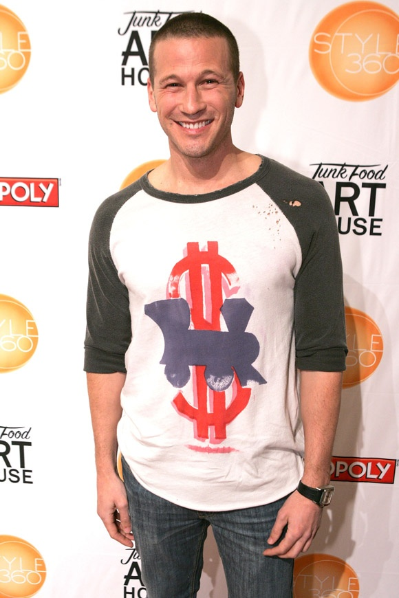 JP Rosenbaum, winner of the Batchelorette wearing our railroad tee on the red carpet    www.junkfoodclothing.com