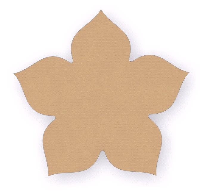 Conjunction Bouquet Hibiscus Wood Cutout