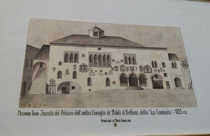 Murales di Marta Farina in Via Sottocastello Belluno Dolomiti Veneto Italia by Nerea Cavallet nel gruppo FB Belluno e la sua storia