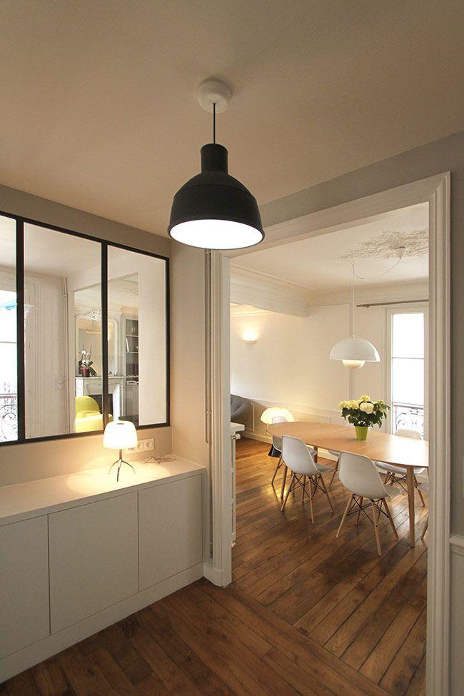 un appartement haussmannien de 85m2 par camille hermand architectures design cabinets and de. Black Bedroom Furniture Sets. Home Design Ideas