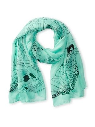 58% OFF Jules Smith Women's Skull Scarf, Mint, One Size
