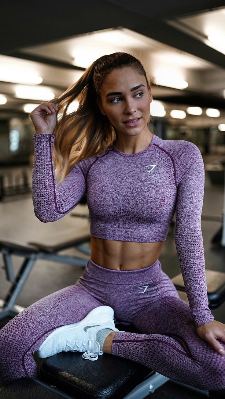 25 +> Gymshark Vital – Long-sleeved, seamless bodice – Purple