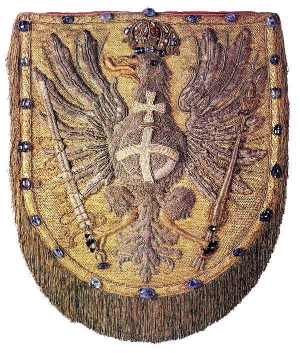 Hood of a coronation mantle of Michael Korybut Wiśniowiecki by Sebastian Brożek, Grzegorz Wojciech Lang and Jan Ritger, 1669-1670, Muzeum Skarbca Katedralnego im. Jana Pawła II w Krakowie