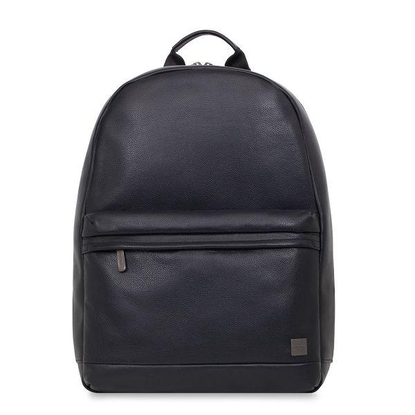 "Albion Men's 15"" Leather Laptop Backpack - Black | KNOMO"