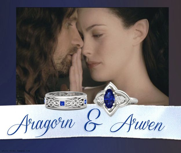 Aragorn & Arwen | Community Post: 14 Wedding Rings Of Your Favorite Fictional Couples