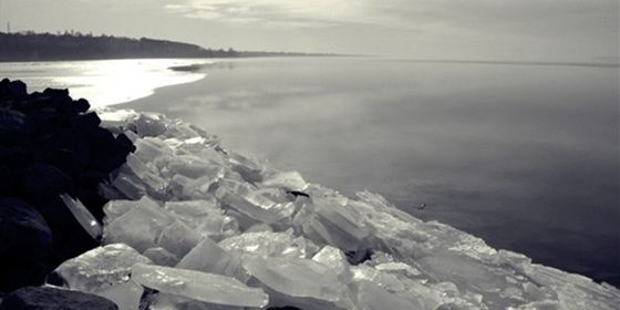 the #lake #Balaton at the wintertime #ice #snow #water #cold #quiet