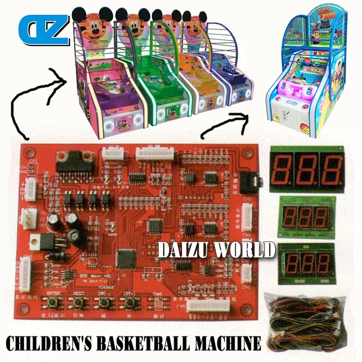 CE approval cute indoor arcade hoops cabinet coin operated basketball game machines for children #Affiliate