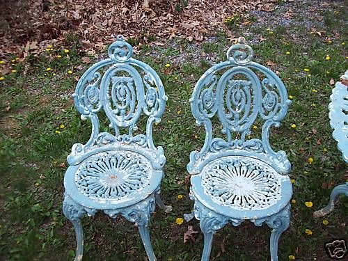Victorian Cast Iron Painted Furniture. These Would Be Perfect For The Front  Porch