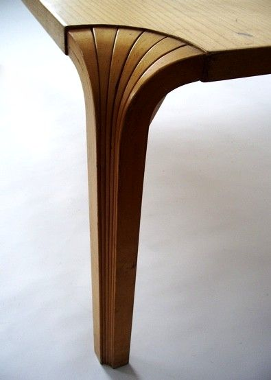 table mx800 detail, alvar aalto