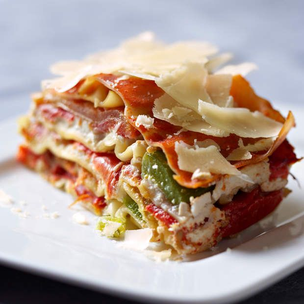 Lasagnes aux trois poivronsVoir la recette des lasagnes aux trois poivrons