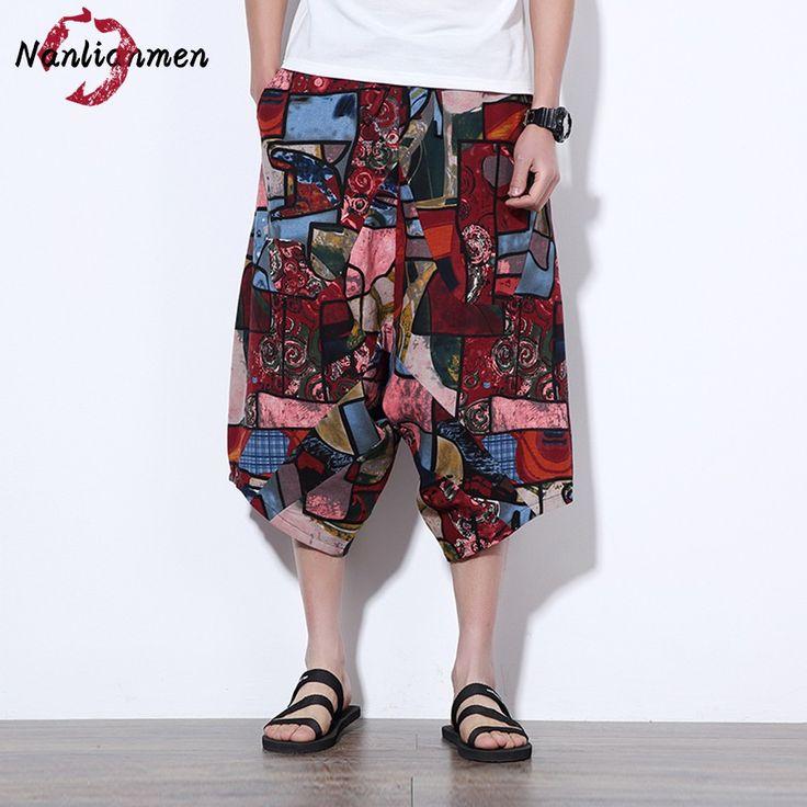 2017 New Chinese Linen Shorts Men bermudas hombre Mens Shorts Knee Length Men's Shorts homme pantalones cortos de los hombres #Affiliate