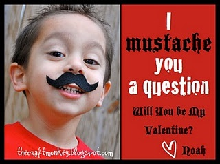 Banana Valentines ... use her mustache pic from field trip Fridays!