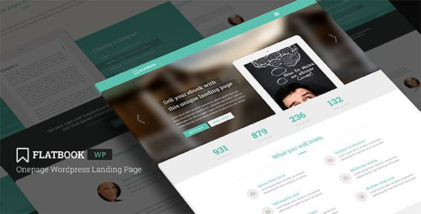 FlatBook - Onepage Wordpress Landing Page - Marketing Corporate