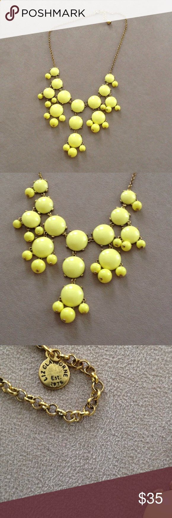 ✂️FINAL CUT✂️ NWOT Liz Claiborne Bubble Necklace Brand new. Never worn. Liz Claiborne yellow bubble necklace with antiqued gold chain. No modeling/trades. Reasonable offers welcome via the offer button. Liz Claiborne Jewelry Necklaces
