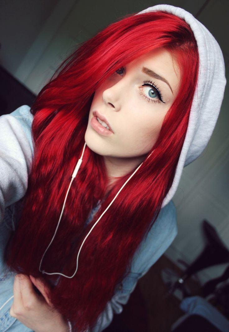 perfiles japanesse cabello rojo