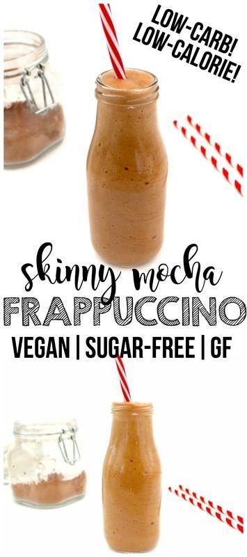 Skinny Mocha Frappuccino (Vegan, Sugar-Free, GF, Low-Calorie, Low-Carb!)